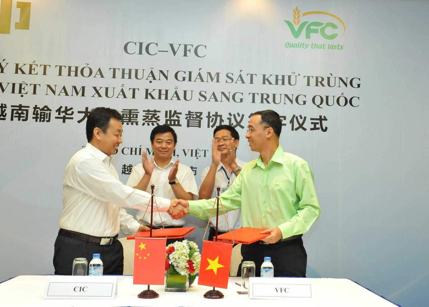 VFC và CIC ký thỏa thuận giám sát khử trùng gạo Việt Nam xuất khẩu sang Trung Quốc